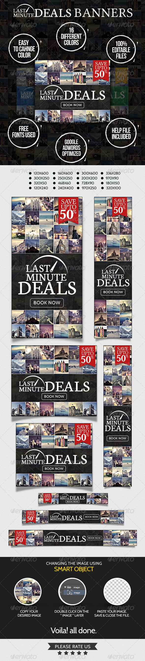 GraphicRiver Last Minute Deals Travel Banners 7218547