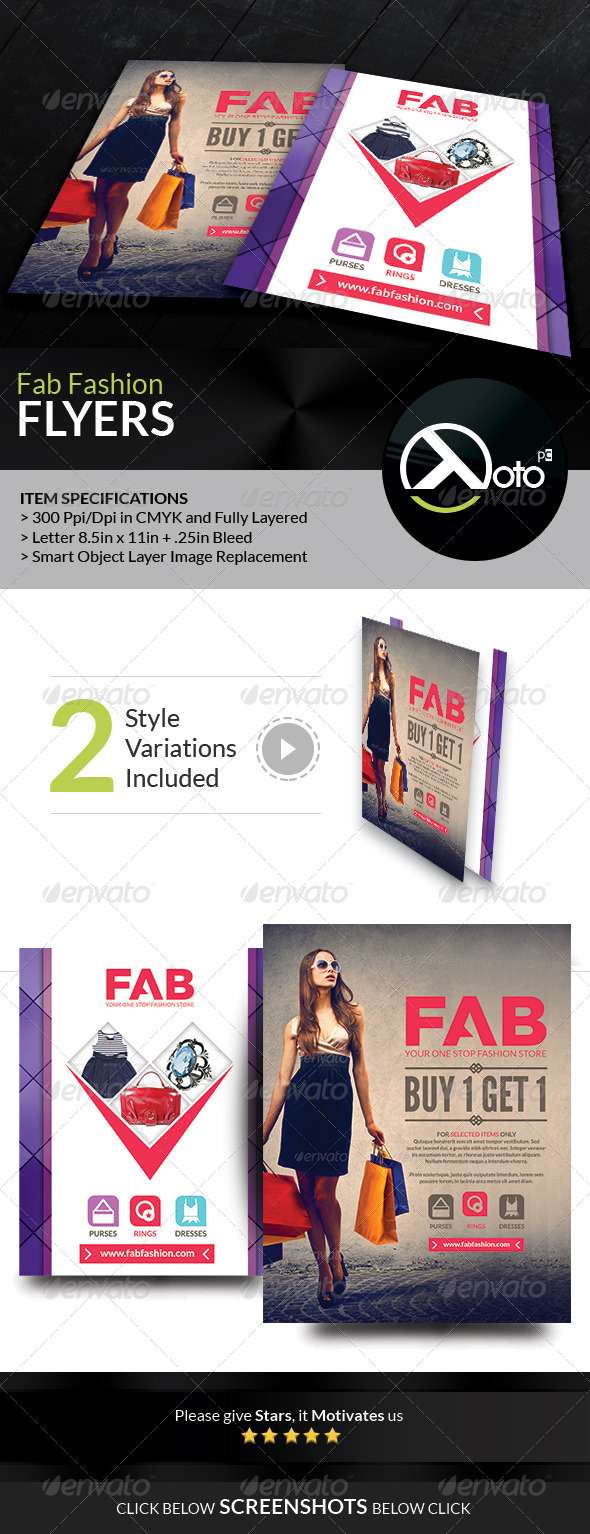 Fab Fashion Retail Sales Flyers - Flyers Print Templates