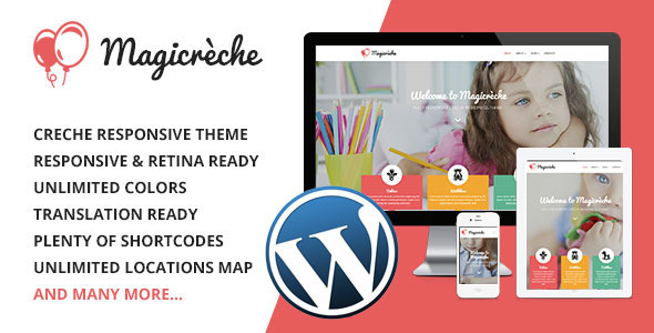 Magicreche - Responsive Crèche WordPress Theme - Education WordPress