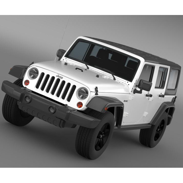 Jeep Wrangler Call of Duty Black Ops - 3DOcean Item for Sale