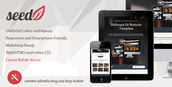 SeedV2 Responsive Email Template & Layout Builder