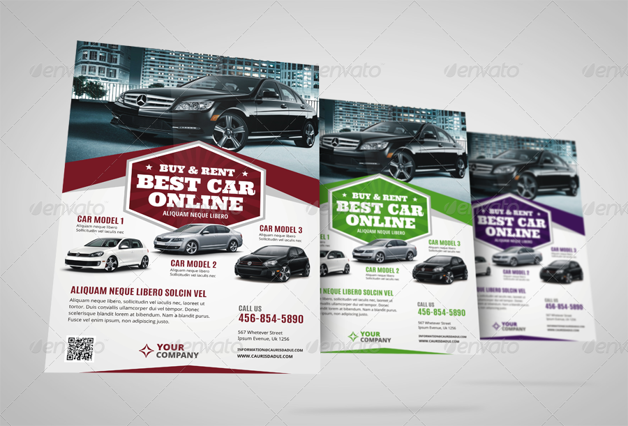 Automotive Car Sale Rental Flyer Ad Vol6 by JbnComilla – Car for Sale Flyer