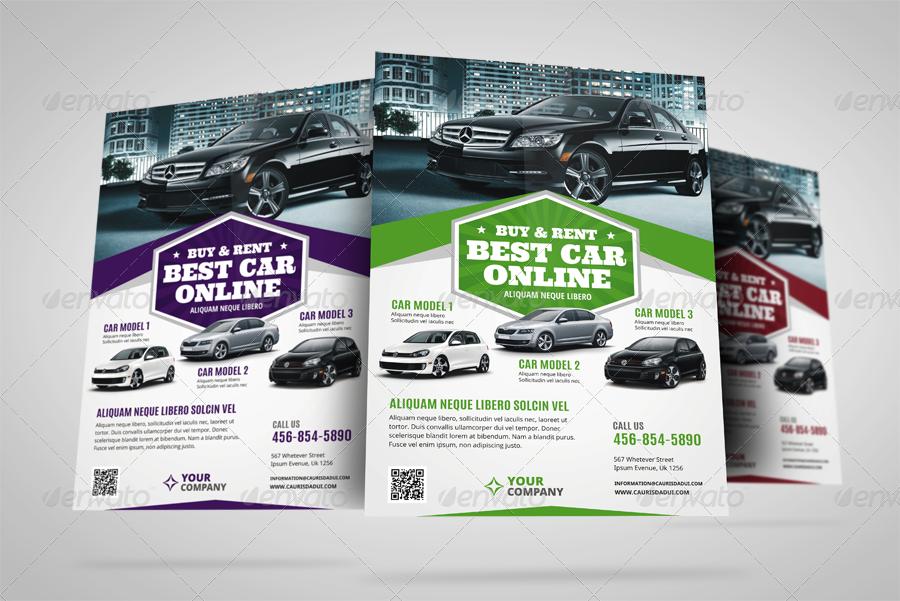 Automotive Car Sale Rental Flyer Ad Vol6 by JbnComilla – Car Sale Flyer