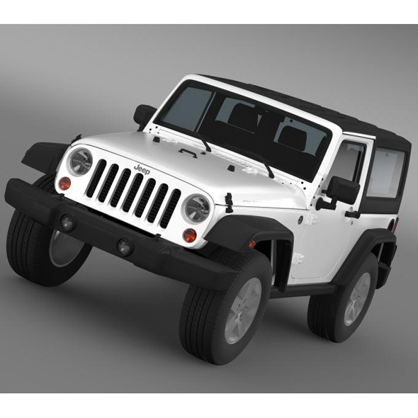 Jeep Wrangler Rubicon 2007 - 3DOcean Item for Sale