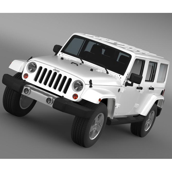 Jeep Wrangler Unlimited 2011 - 3DOcean Item for Sale