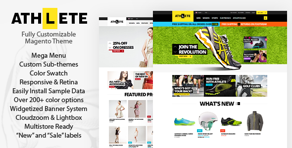 ThemeForest Athlete Responsive Magento Theme 7190141