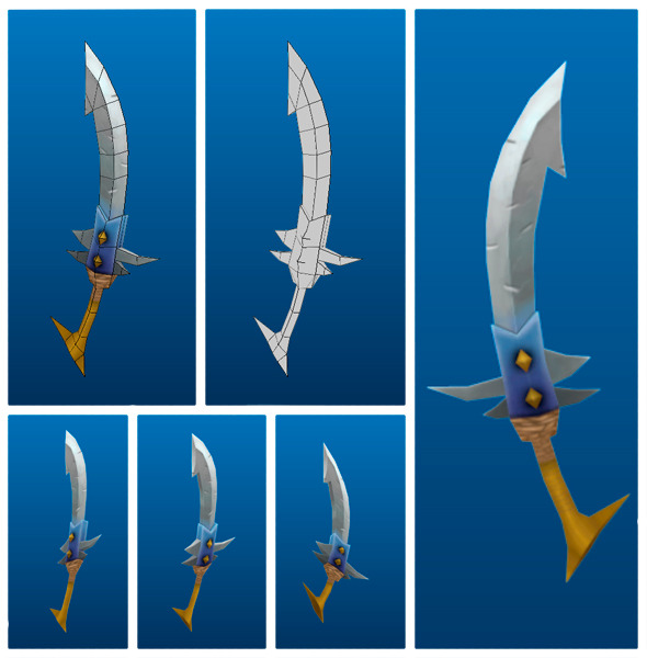 Stylish Sword 04 - 3DOcean Item for Sale