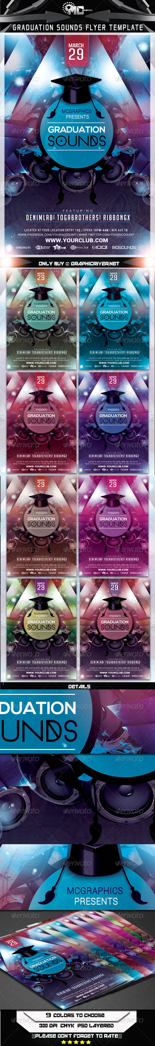 GraphicRiver Graduation Sounds Flyer Template 7187812