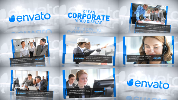 Clean Corporate Video Display