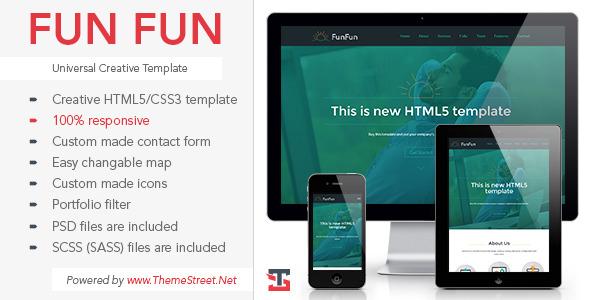 Fun Fun - Universal multipurpose HTML5 Template