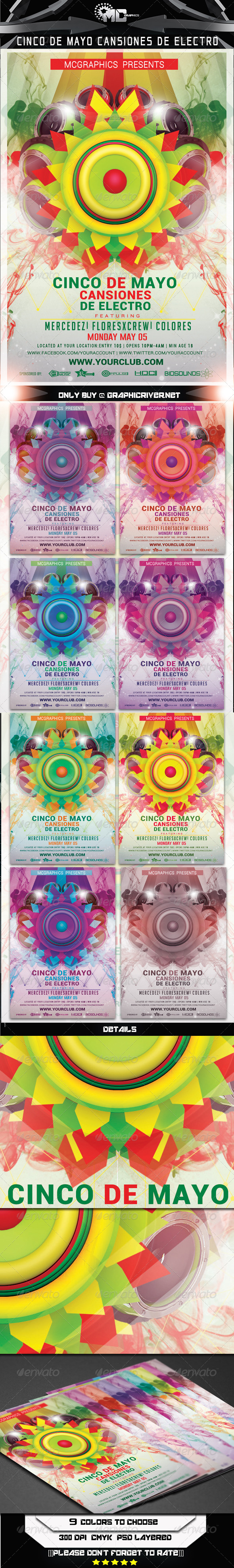 GraphicRiver Cinco De Mayo Flyer Template 7187288