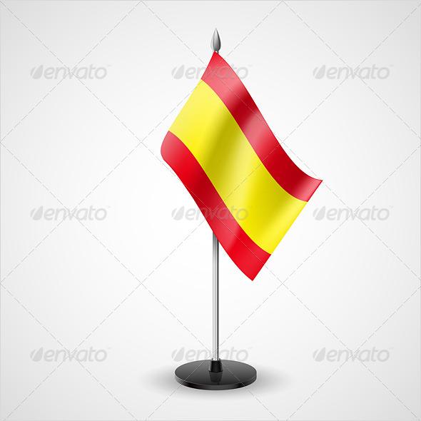 Table Flag of Spain