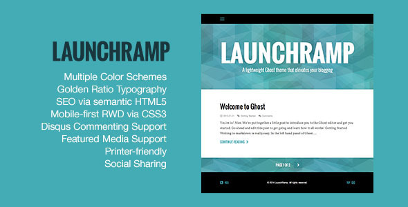 LaunchRamp - Ghost Themes Blogging