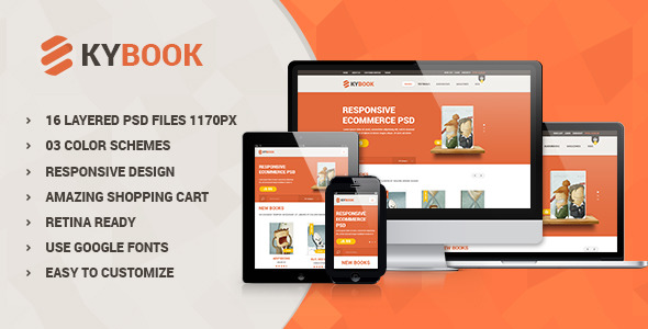 KyBook - Responsive eCommerce PSD Template
