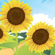 Summer Sunflower Landscape - GraphicRiver Item for Sale