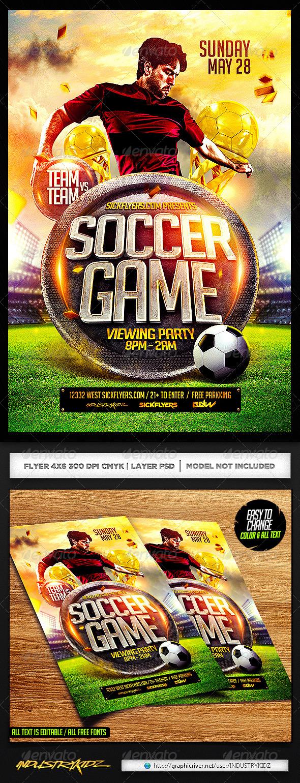 Soccer Flyer Template PSD