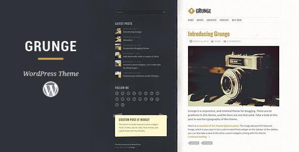 Grunge - Responsive Blog Theme - Personal Blog / Magazine