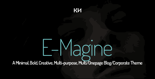 E-Magine-Minimal, Bold, Creative, Multi-purpose Template