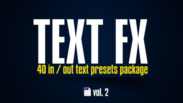 Text FX Presets Vol 2