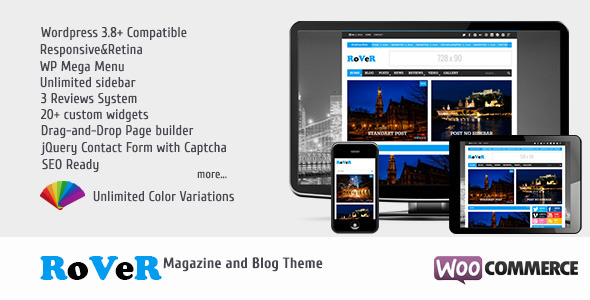 RoVeR - Magazine/Blog WordPress Theme