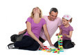 Family playing with building blocks - PhotoDune Item for Sale