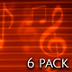 Musical Backgrounds - 6 Pack - VideoHive Item for Sale