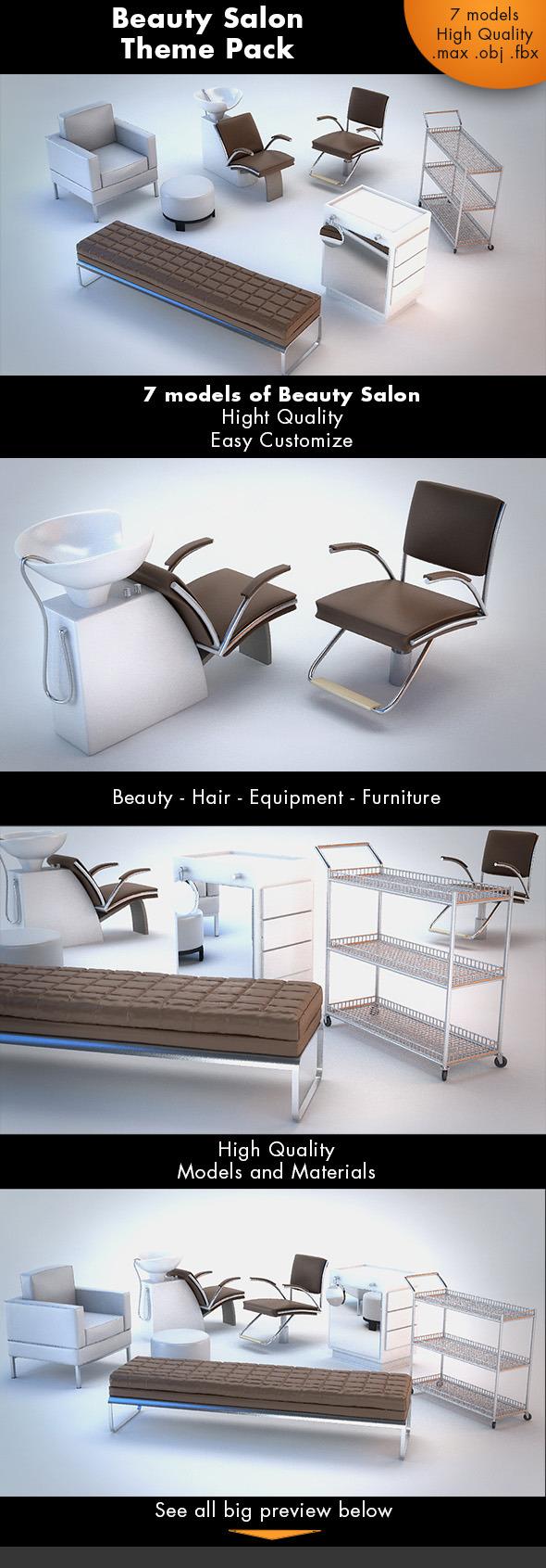 Beauty Salon Pack - 3DOcean Item for Sale