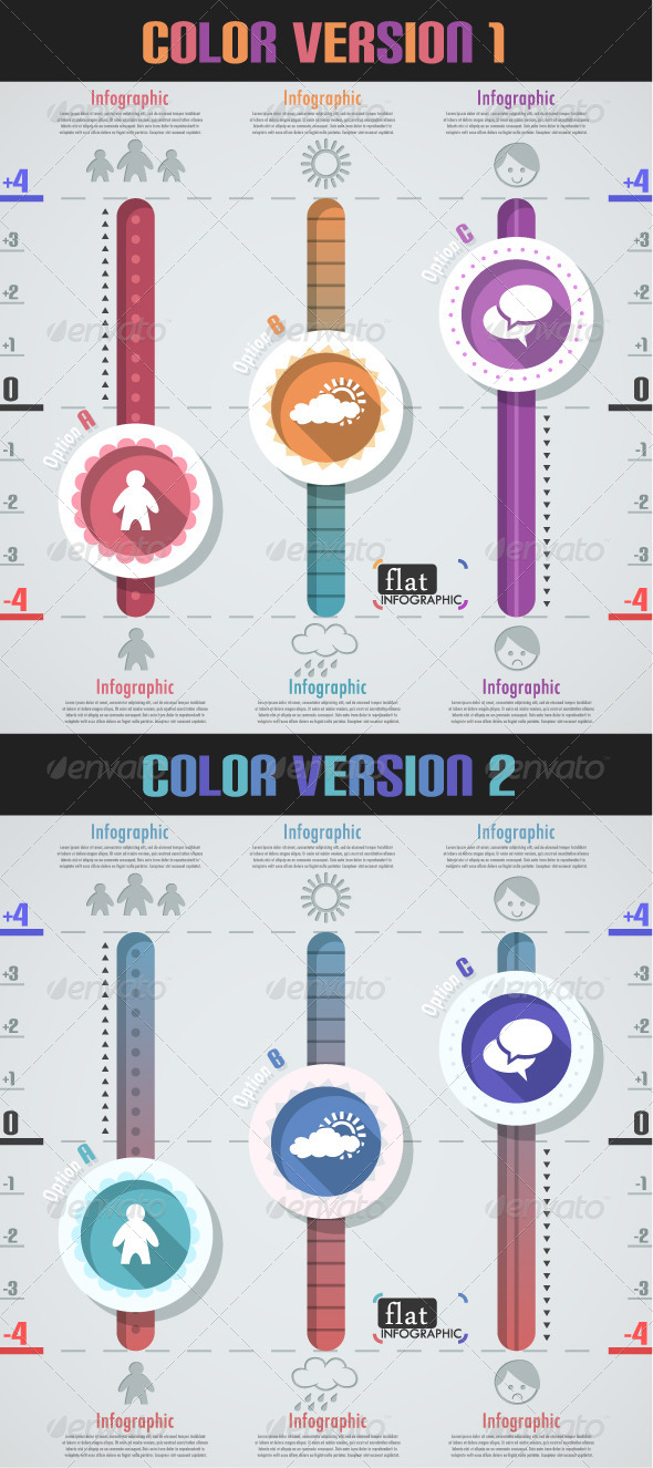 GraphicRiver Flat Infographic Banner Two Versions 7228621