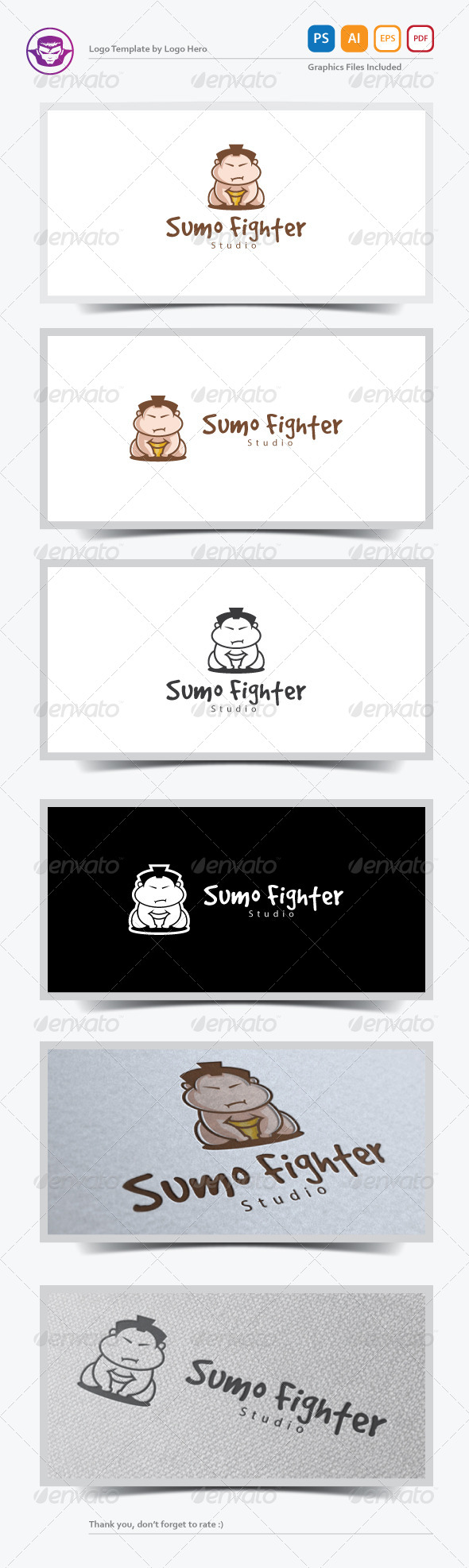 Sumo Fighter Logo Template