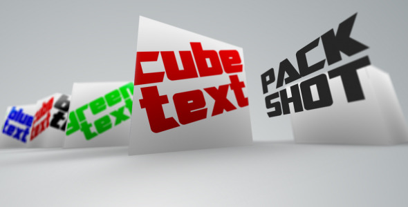 After Effects Project - VideoHive Cube Text 753349