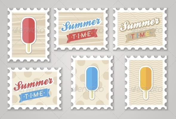 Summer Stamps of Ice Cream