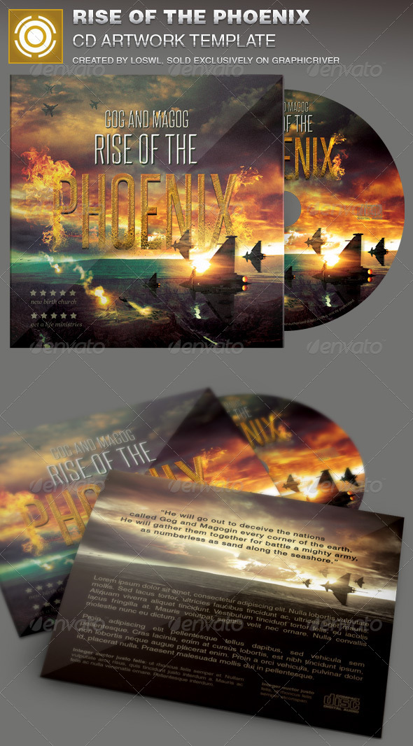 Rise of the Phoenix CD Artwork Template