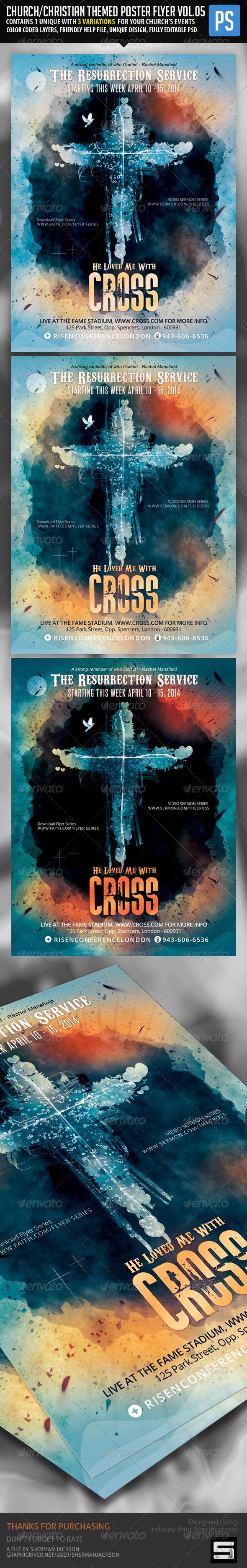 Church Christian Themed Poster Flyer Vol.5