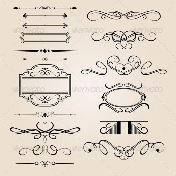 GraphicRiver Vector Set Border Design Element 757192