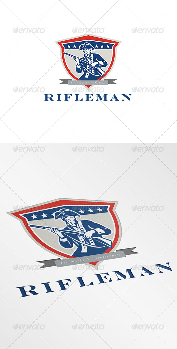 GraphicRiver Rifleman Fireworks and Pyrotechnics Logo 7229193