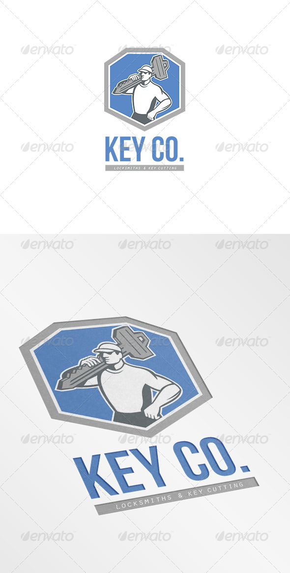 GraphicRiver Key Co Locksmith and Key Cutting Logo 7229441