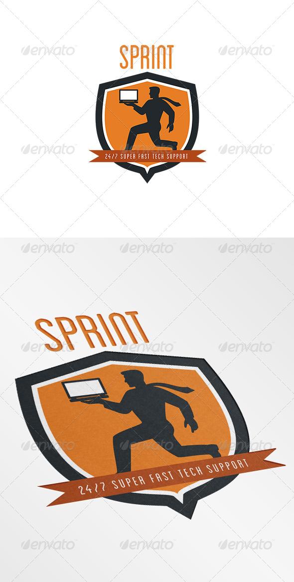 Sprint Super Fast Tech Support Logo