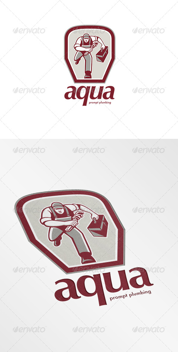 GraphicRiver Aqua Prompt Plumbing Logo 7229476
