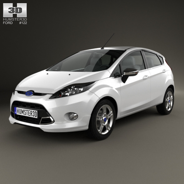 Ford Fiesta Zetec 5-door hatchback 2012 - 3DOcean Item for Sale