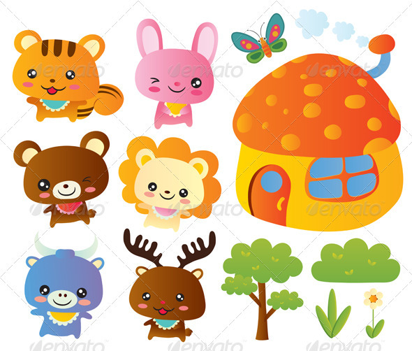 Cute Animal Collections - Animals Characters