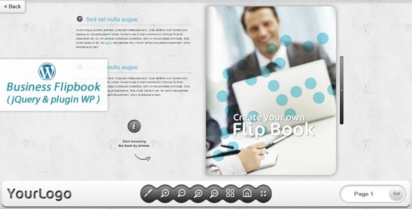 Business FlipBook jQuery&pluginWP