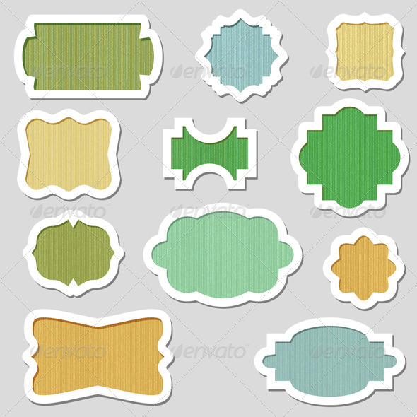 GraphicRiver Colorful Vector Frames 757484