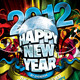 Happy New Year 2012 (Flyer Template 4x6 inches) - GraphicRiver Item for Sale