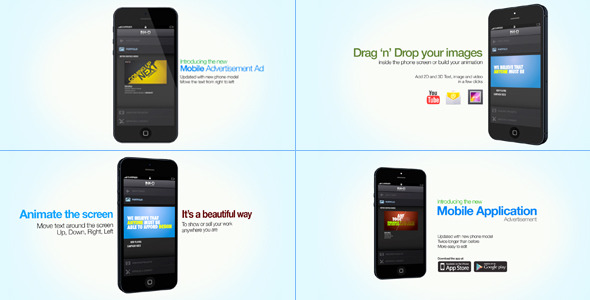 Mobile Application Advertisement E3D