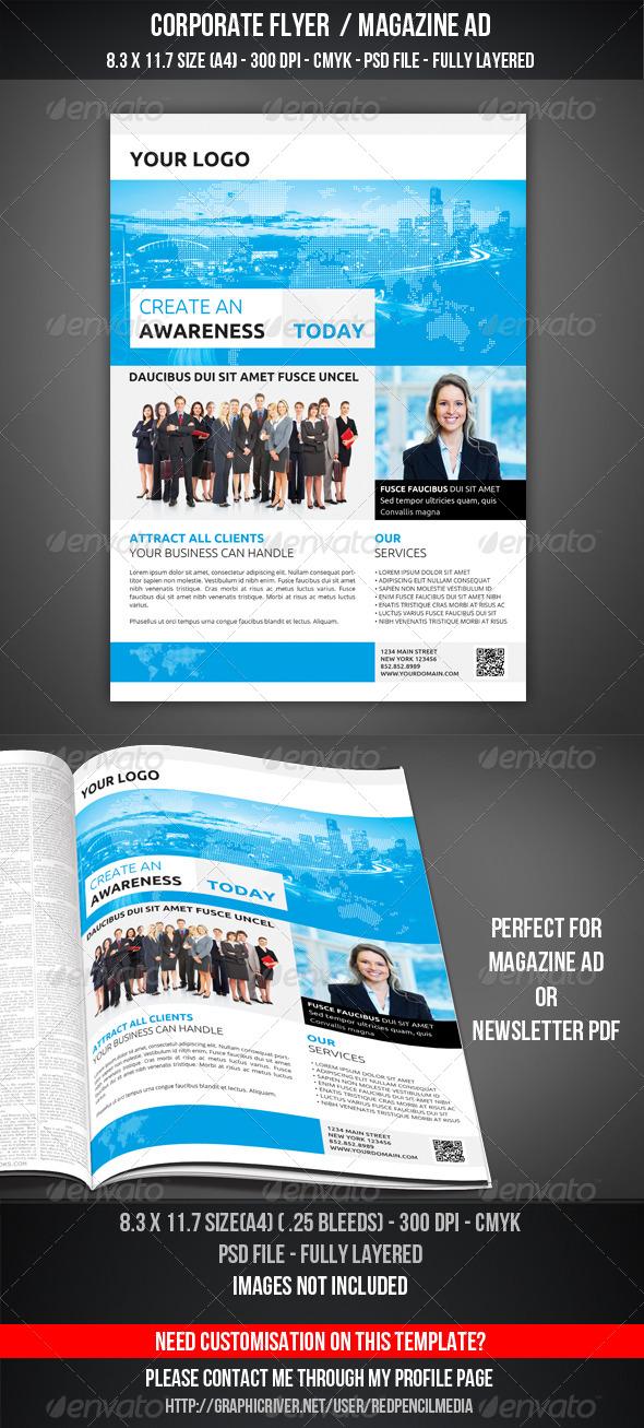 Corporate Flyer Magazine AD