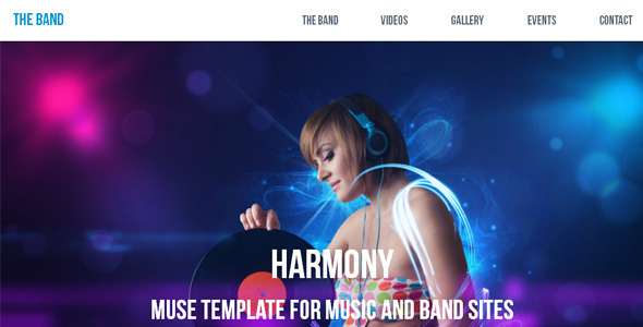 Harmony - Music / Band Muse Template