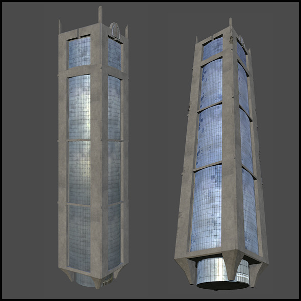 Concrete Building - 3DOcean Item for Sale
