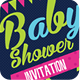 Baby Shower Invitation Template PSD - GraphicRiver Item for Sale