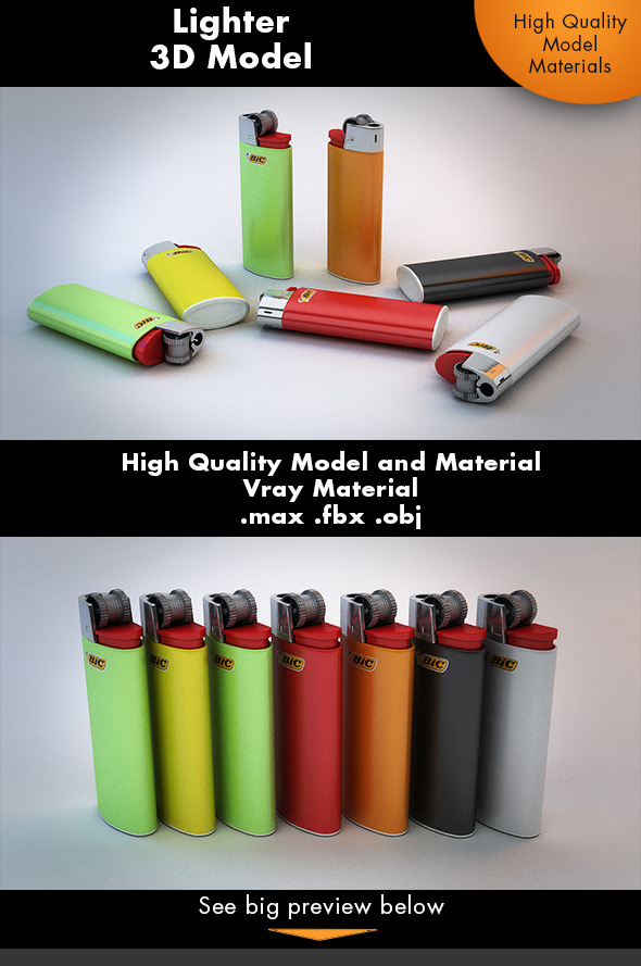 Classic Lighter  - 3DOcean Item for Sale