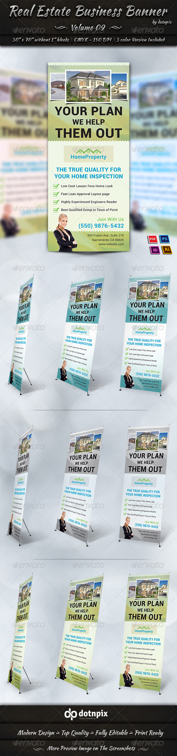 Real Estate Business Banner Volume 9